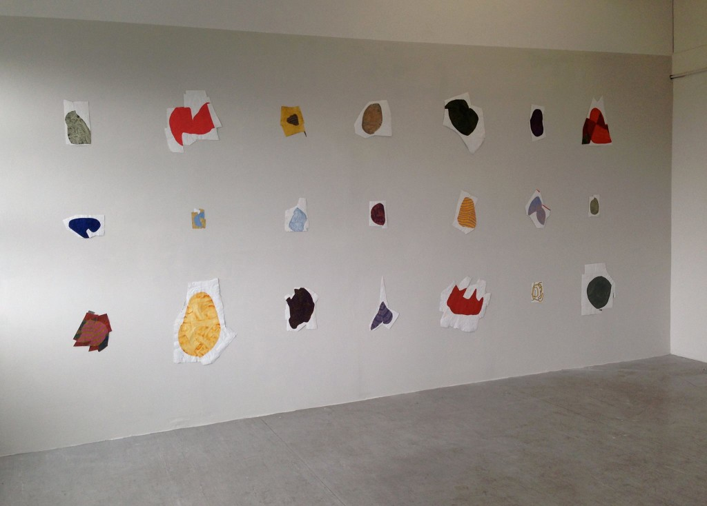 More than momentary: ENJOY, 2015 Installation view with 21 drawings.