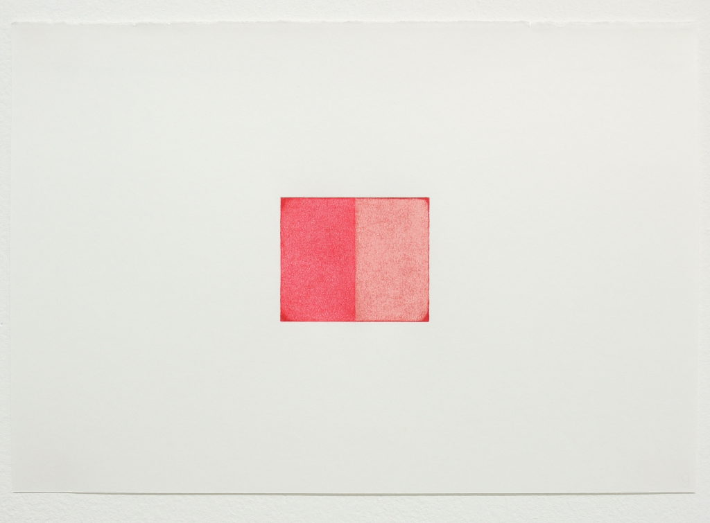 Eric Cruikshank  Number 9 -  Deep-Scarlet-Red-Pomplean-Red; 2016 Coloured Pencil on Paper, 19 cm x 28cm